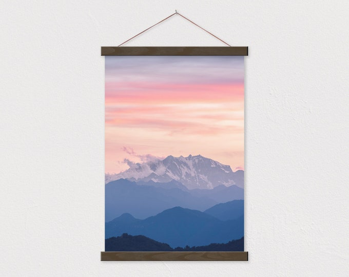 Mountain Femme Print with Real Wood Magnetic Poster Hanger-magnetic self assembly