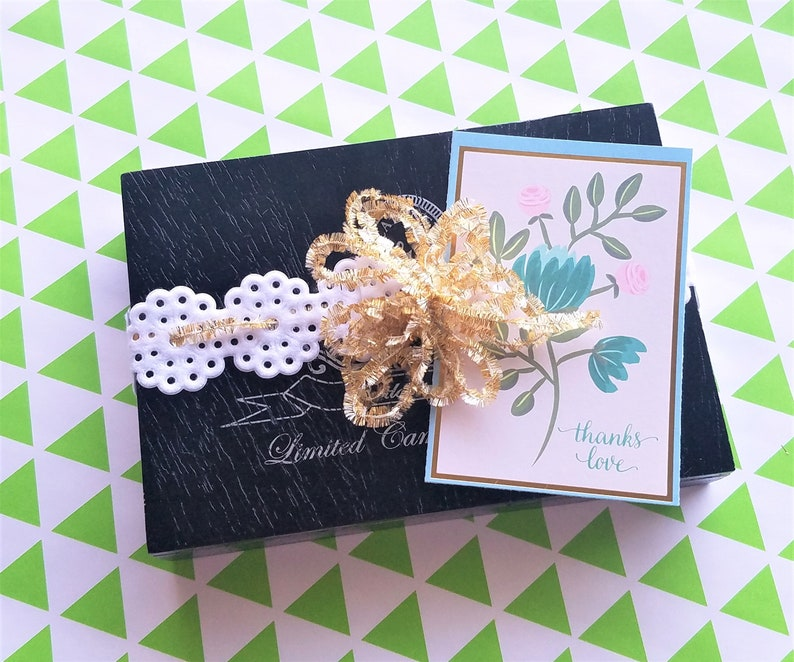Beautiful Gift Ready to Give or Ship Holiday Hostess Gift Lovely Christmas Ribbon Collection in a Vintage Cigar Box