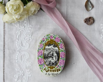 Vintage French Anis de L'Abbaye de Flavigny Bon-Bon Tin, Decorative Tin, French Aniseed Confectionery Tin Young Lovers