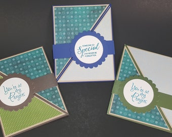 You're in my prayers - 3 card bundle - Sympathy, praying for you cards