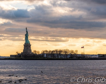 Statue of Liberty at Sunset, Ellis Island