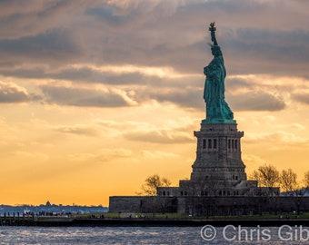 Lady Liberty Sunset, Ellis Island