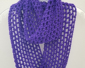 Crochet Infinity Scarf-Pick Your Color