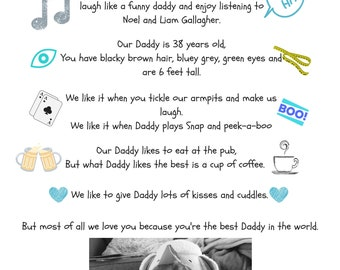 """A4 PRINT ONLY """"Dear Daddy"""""""