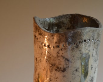 Raku Ceramic vase/Cover