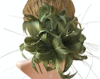 62d03770c2f6e Dyed Feather Flower Mount Bouquet Faux flowers Millinery Goose Feathers for  Kentucky Derby Ascot Racing Hat Making Fascinators 1 Piece