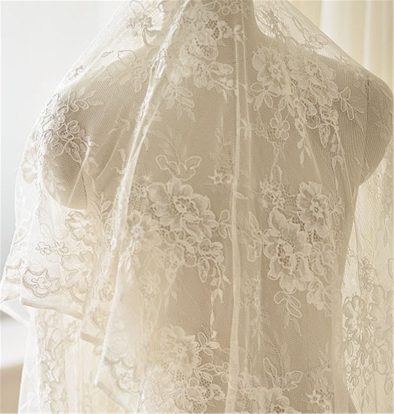 ac11624afdbd8 Fleur cordée en tissu dentelle broderie cordée Fleur matériaux tissus  passementerie artisanat bricolage mariage mariée robe de soirée pleine de  fantaisie ...