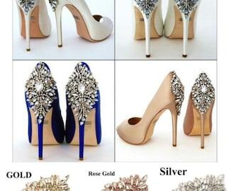 Crystal Rhinestone Shoe Clips Applique Diamante Appliques Sash Belt DIY Iron Glue on Shoes Bridal Wedding Bridesmaids Dress Gown