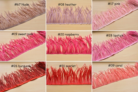 Goose Biot Feather Trimming Fringe Feathers For Millinery Fascinator Hat Making Craft Decorating Accessories Bridal Costume 20 cm/50 cm