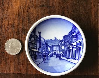 Vintage Royal Copenhagen Blue Scenic Butter Pat Plate