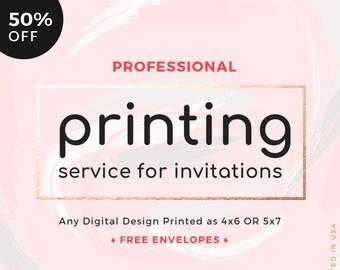 Printed Invitations Etsy