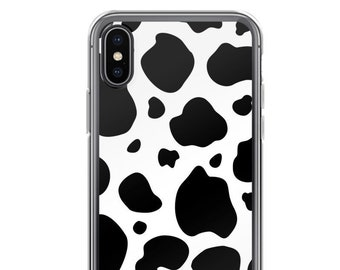 5fd5d2f5e5b6 Black and White Cow Print Animal Pattern iPhone X / XS Case, iPhone XR, iPhone  8 Case, iPhone 8 Plus Case, iPhone 7 Case, iPhone 6 Plus Case