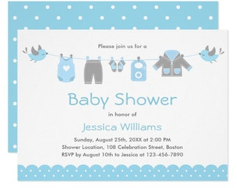 Baby shower invitation template etsy cute blue clothes boy baby shower invitation template printable invitation editable download digital or printed filmwisefo