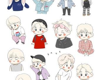 Kpop/fanart) EXO-baekhyun stickers