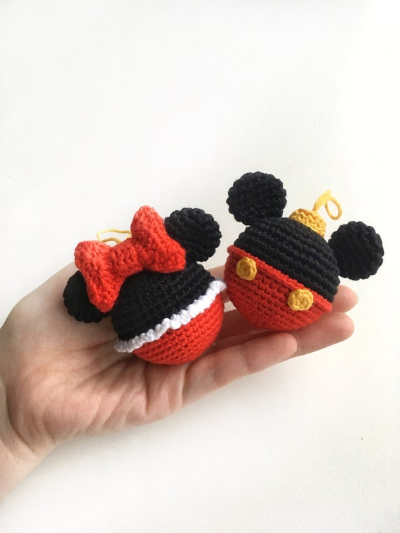 Crochet Mickey Mouse Ornament - Red Ted Art - Make crafting with ... | 760x570