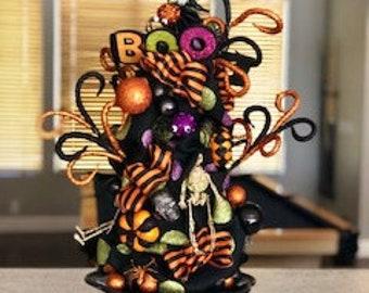 halloween tree etsy