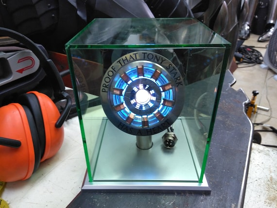 Avengers Wearable MK50 Iron Man LED Arc Reactor Display Box Set For Cosplay