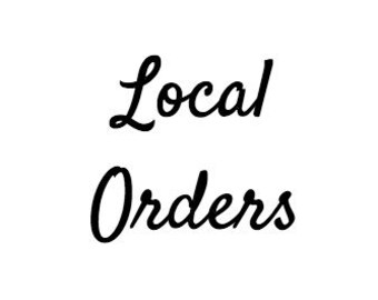 Approved Local orders only