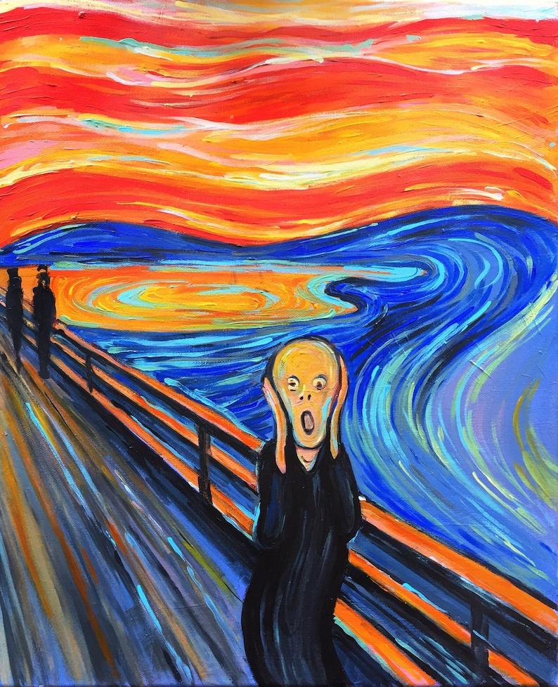 Edvard Munch The Scream Figure Keyring