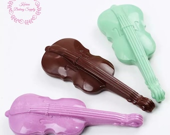 Violin chocolate mold fondant mold jelly cake mould DIY cake decoration