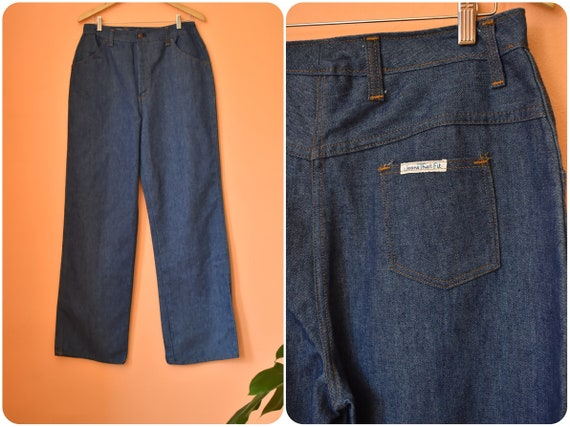 1970/'s Sears Pants Ladies 2931 Red High Waisted Flares