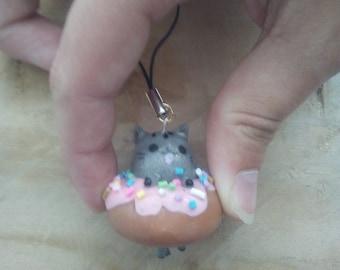 Strap (Portre key) Pusheen in a donut