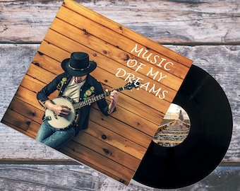 Custom Vinyl Record, 12 inch. Vinyl Record  included: Your Best Playlist, Two Sided, Black, Cover & Vinyl Stickers, Fast Delivery