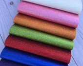 Fine Glitter  sheets with canvas backing.  Glitter sheets. available in 16 colors. Craft supplies. Hair bow supplies. Thickness 0.5 mm photo