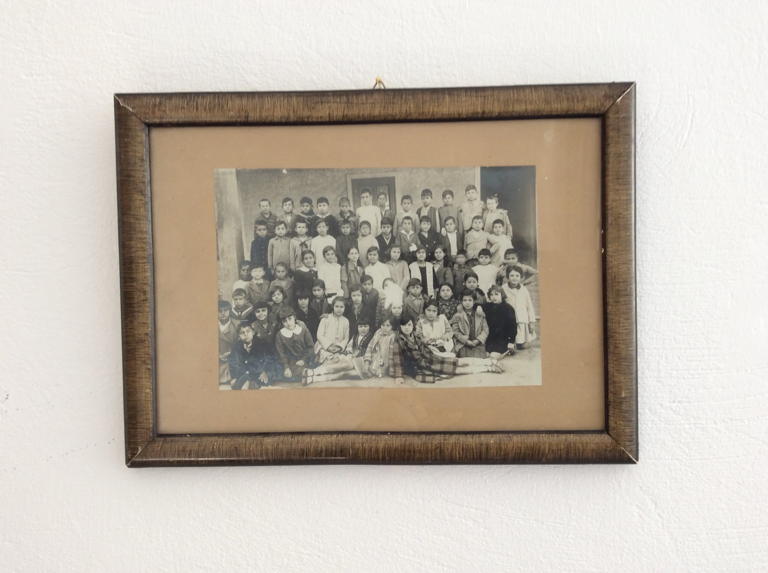 Vintage Black and White Photo School House Group Students Children Digital Download Antique Wall