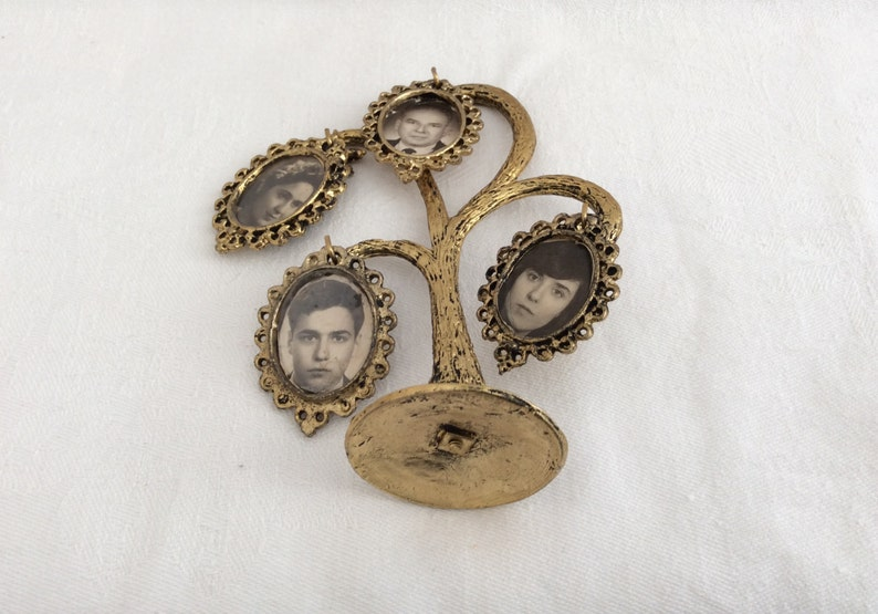 Retro Home Decor Vintage Photo Frame Vintage Brass Family Tree Photo Frame Wedding Gift Early 70/'s