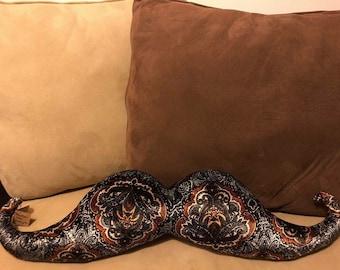 Velvet mustache pillow