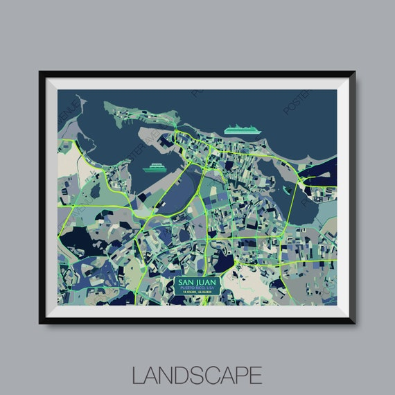 San Juan - Puerto Rico - USA Map Print - Modern Contemporary Chroma San Juan Puerto Rico Map on united states virgin islands, san juan on world map, san juan nm map, fort san felipe del morro, bogota colombia map, old san juan, el yunque national forest, san jose, florida map, san juan spain map, guatemala city, puerto rican people, san juan cruise terminal map, tegucigalpa honduras map, miami map, old san juan map, managua nicaragua map, san juan isla verde map, santo domingo, dallas texas map, san salvador, san juan caracas map, rio de janeiro brazil map, san juan airport map, caribbean map, saint thomas, san juan city map, san juan belize map, lima peru map, caracas venezuela map,