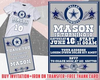 Cowboys invitations etsy dallas cowboys birthday invitation dallas cowboys iron on transfer dallas cowboys invite dallas cowboys dallas cowboys invitations filmwisefo