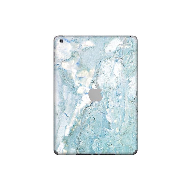 90d9a631a9456 Pastel Blue Marble iPad Skin