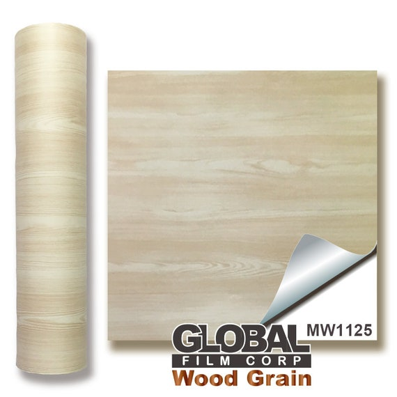 "24/"" x 10 feet White Wood MW1125 Wood Grain adhesives Vinyl"