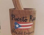 Puerto Rico Wood Mortar Pestle tall 5 39 39 1 2