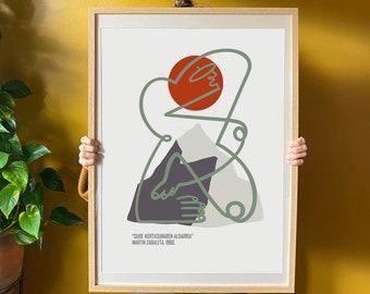 illustration - minimalist - martin zabaleta -basque - everest - 1980
