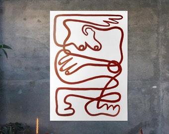 Eseri Mental, minimalist, line, English red, body