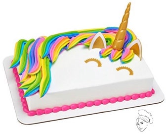 Unicorn Cake Topper Birthday Party Theme Decorations