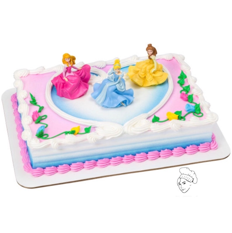 Princess Cake Topper Happy Birthday