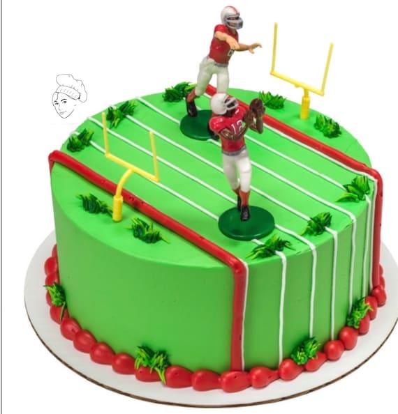 Football Cake Topper Sports Cake Boys Birthday Cake Etsy