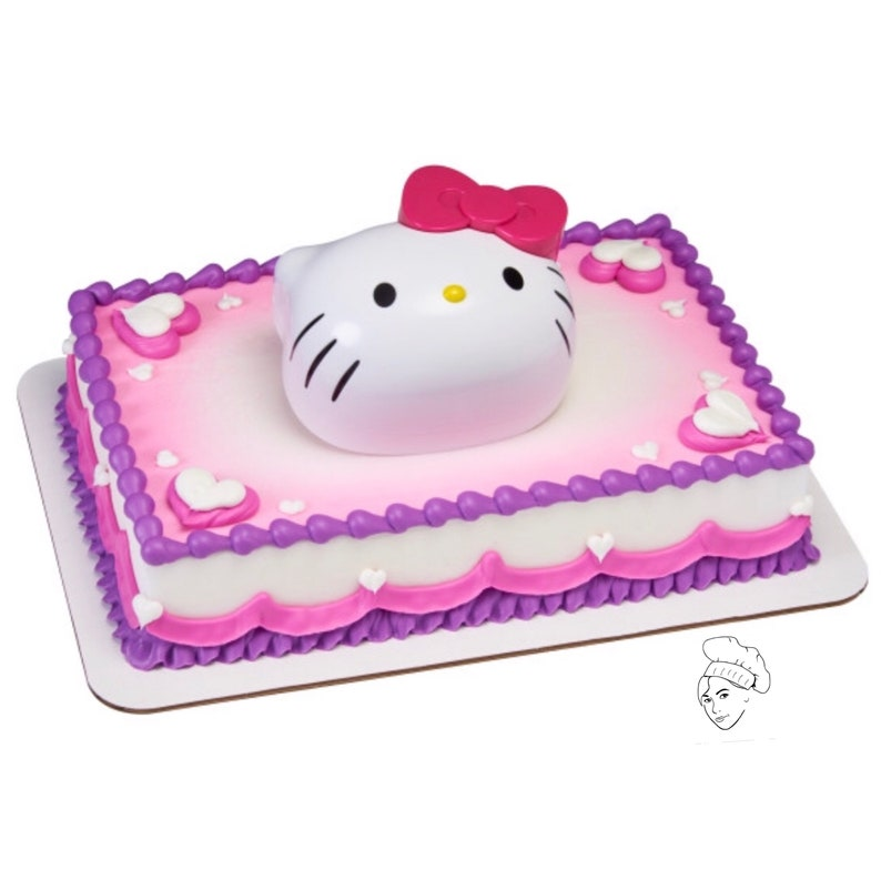 Hello Kitty Cake Topper Hello Kitty Birthday Hello Kitty Etsy