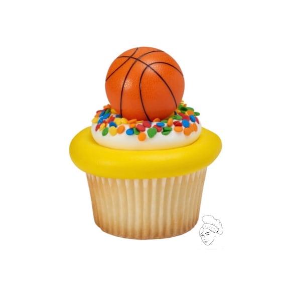 24 Basketball Cupcake Toppers basketball cake basketball | Etsy