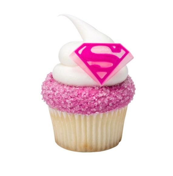 24 Supergirl Cupcake Toppers Superhero