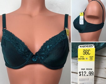 5c484797a74ec Vintage Warner s 36C Bra Green NOS New Old Stock