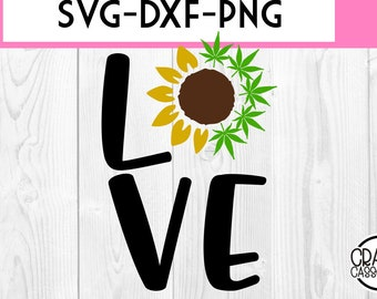 Love Weed Svg Dxf Etsy