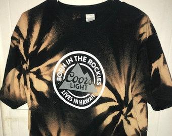 Coors Light Hawaii Distressed T-shirt