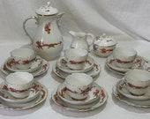 Meissen Red Ming Dragon Coffee Set, Vintage, after 1934, Porcelain, Red Dragon Pattern, Meissen Porcelain, Kaffeeservice