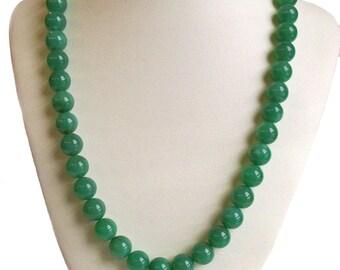 Natural Chrysoprase Ball Necklace