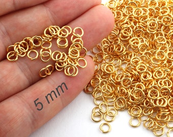 925 QUALITY STERLING SILVER PLATED 5mm OPEN JUMP RINGS FOR JEWELLERY MAKING 10-2